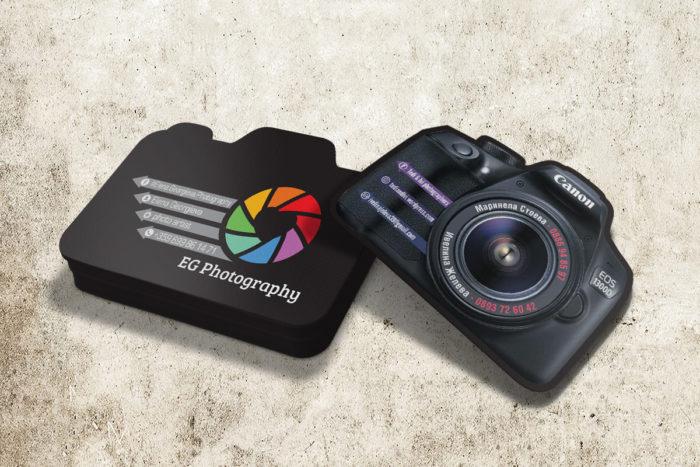 нестандартни визитки за фотографи