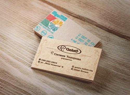 визитка крафт картон