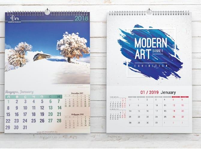 календари стенни