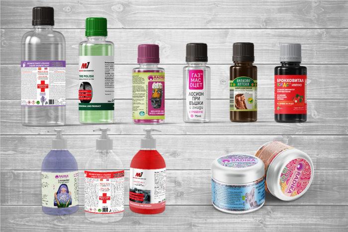 самозалепващи етикети PVC печат и изработка
