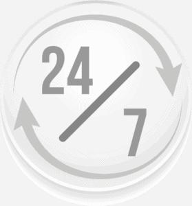 24 часа 7 дни в седмицата